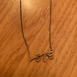 Tiffany LOVE necklace